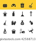 Cleaning Icons Vector with White Background 42568713