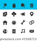 Web and Internet Icons Set with White Background 42568723