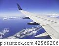 비행기의 창으로부터의 경치 (곧 나하 공항에 착륙) 42569206
