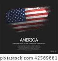 America Flag Made of Glitter Sparkle Brush Paint 42569661