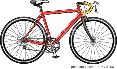 자전거 컬러 일러스트 자전거 42570168