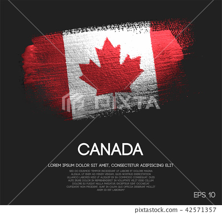Canada Flag Made of Glitter Sparkle Brush Paint 42571357