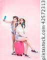 two beauty women go travel 42572313