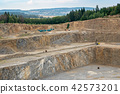 Opencast mining quarry with lots of machinery.  42573201