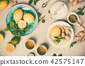 Ginger tea with lemon, honey and mint 42575147