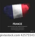 France Flag Made of Glitter Sparkle Brush Paint 42575543