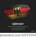 Germany Flag Made of Glitter Sparkle Brush Paint 42575549