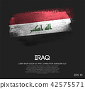 Iraq Flag Made of Glitter Sparkle Brush Paint 42575571