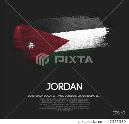 Jordan Flag Made of Glitter Sparkle Brush Paint 42575580