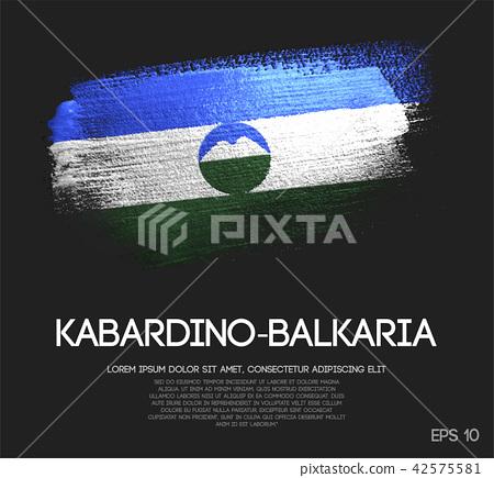 Kabardino-Balkaria Flag Made of Brush Paint 42575581