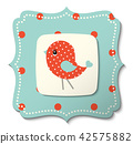 Illustration of abstract bird in country style 42575882