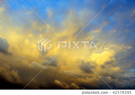 Rainbow in sunset 42576395