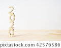 "wooden word "" 2020 "" on table and white background 42576586"