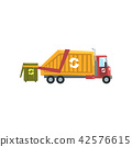 Garbage truck, waste recycling vector Illustration on a white background 42576615