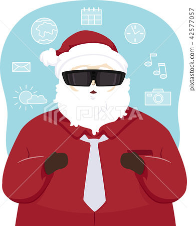 Santa Claus Augmented Reality Illustration 42577057