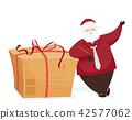 Santa Claus Gift Box Illustration 42577062