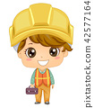 Kid Boy Construction Engineer Illustration 42577164
