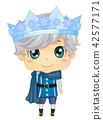 Kid Boy Ice Prince Illustration 42577171