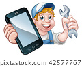 Mechanic Plumber Handyman Phone Concept 42577767