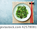 Seaweed salad served and ready to eat 42578081