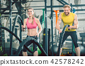 woman gym male 42578242