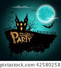 bat moon halloween 42580258