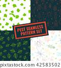 Set of pest seamless patterns 42583502