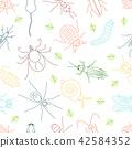 Pest line seamless pattern 42584352