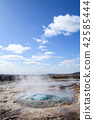 geysir eruption in Iceland 42585444
