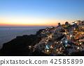 Sunset in Greece, Santorini, Oia 42585899