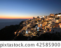 Sunset in Greece, Santorini, Oia 42585900