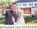 house, couple, keys 42585948