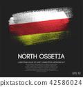 North Ossetia-Alania Flag Made of Brush Paint 42586024