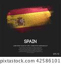 Spain Flag Made of Glitter Sparkle Brush Paint 42586101