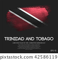 Trinidad and Tobago Flag Made of Brush Paint 42586119