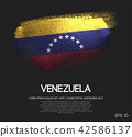 Venezuela Flag Made of Glitter Sparkle Brush Paint 42586137