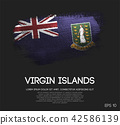 British Virgin Islands Flag Made of Brush Paint 42586139