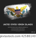 United States Virgin Islands Flag Made of Brush 42586140