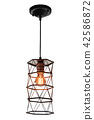 Modern hanging lamp isolated. 42586872