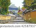 Nigatsu-do, urasando, earthen wall 42587937
