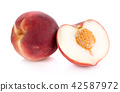 Peach isolated on white background 42587972