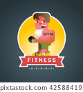 gym fitness vector 42588419