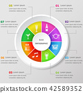 Infographic design template with bar icons 42589352