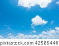 藍天天空背景背景材料 42589446