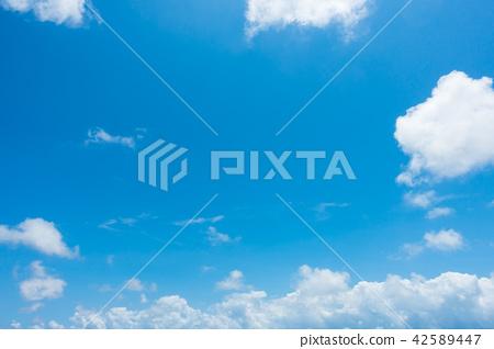 藍天天空背景背景材料 42589447
