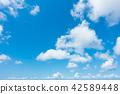 蓝天天空背景背景材料 42589448