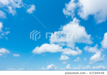Blue sky sky background background material 42589448