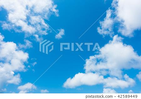 藍天天空背景背景材料 42589449