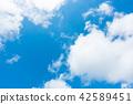 藍天天空背景背景材料 42589451
