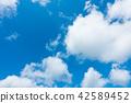 藍天天空背景背景材料 42589452